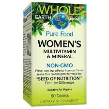 Whole Earth & Sea Women's Multivitamin & Mineral by Natural Factors - 60 Tablets