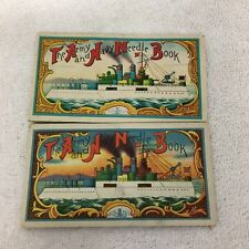 Vintage Army & Navy Needle Books Ships & Eagles Occ Japan Pair Japan T108