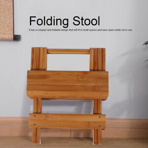 Muti-functional Folding Bamboo Stool Chair Fishing Wooden Rest Seats BBQ New
