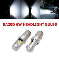2PCS BA20D H6 LED Motorcycle MotorBike Moped ATV Headlight Headlamp Light Bulb