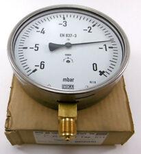 """Wika Manometer -6 - 0 mbar Anschluss 1/2""""B Ø160 mm   Typ 612.20.160"""