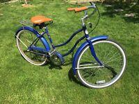 Columbia Clipper Miss Girls 3speed Bicycle Metallic Blue Bike 21in
