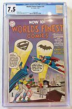 World's Finest 74 DC Comics Golden Age 1955 CGC 7.5 Last Pre-Code Issue