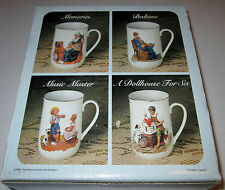 RARE SET: COLLECTABLE Norman Rockwell Collector's Mug SET OF 4 CUPS