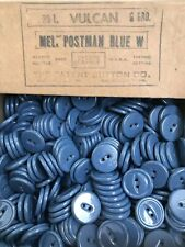 50 3/4 inch VINTAGE POSTMAN BLUE 2 HOLE PLASTIC BUTTONS - NEW CONDITION