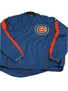 Chicago Cubs sz XL Majestic Cool Base convertible windbreaker