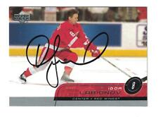 Igor Larionov AUTOGRAPH UPPER DECK HOCKEY CARD SIGNED DETROIT RED WINGS