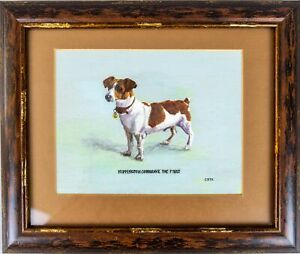 """English School """"Nippington Cotgreave The First"""" (Jack Russell) - Oil On Board."""