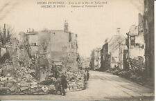 PC37773 Rheims in Ruins. Entrance of Talleyrand Street. J. Bienaime