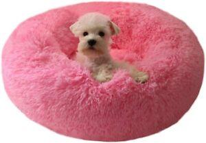 Super Soft Pet Bed Kennel Dog Round Cat Kitten Sleeping Bag Long Plush Size XS S