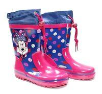 Stivali pioggia bambina Minnie Disney bimba gomma fucsia 26 27 28 29 30 31 32 33