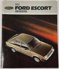 1982 American Ford Escort Car Sales Brochure.