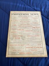 Engineering News American Railway Antique Hit And Miss Gas Engine 1898 Magazine