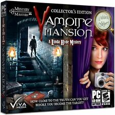 Vampire Mansion - A Linda Hyde Mystery Collectors Edition Hidden Object PC NEW
