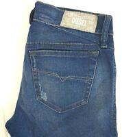 NWT DIESEL Women's Medium Wash 0R610 Getlegg Slim Skinny Stretch Jeans 25 x 32