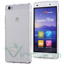 Pellicola+Custodia PERFECT FIT cover trasparente per Huawei P8 lite case TPU