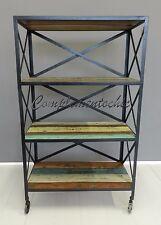 Libreria Scaffale industriale vintage ferro e legno British Color