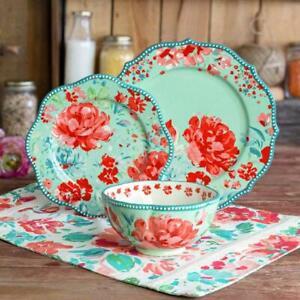 The Pioneer Woman 12 Piece Gorgeous Garden Dinnerware Set Microwave safe