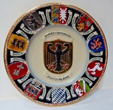 SH16 WEST GERMANY HEAVY BRD PLATE PLAQUE Bundesstaaten coats of arms - states
