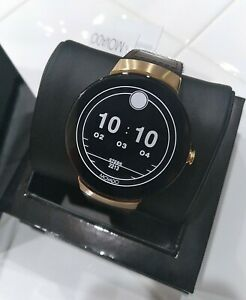 Movado Connect Chocolate Brown Leather and black silicone Smartwatch 3660021