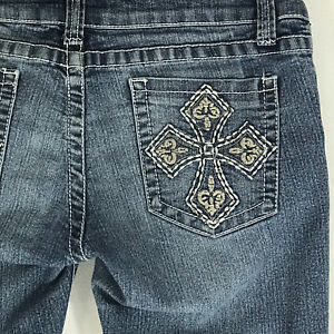 Chinese Laundry Embellished Pocket Boot Cut Jeans Size 29