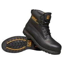 Safety Shoes Work Boots Black Holton Size 9 Water Resistant - CAT Holtonsize9