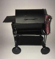 NEW Miniature DOLLHOUSE Barbecue BBQ Grill W/ Towel