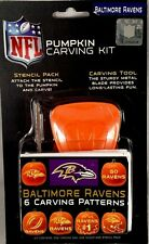 Baltimore Ravens NFL sports pumpkin carving kit - 6 patterns NEW sealed package