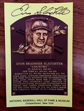 """Great ENOS SLAUGHTER """"COUNTRY"""" Hand Signed   HOF Postcard Plaque Deceased"""