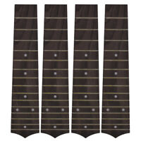 4Pcs Fretboard for Soprano Hawaii Guitar Ukulele Replacement 15 Fret Rosewood