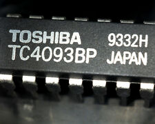 10 TC4093BP Toshiba 4093B quad 2 input NAND schmitt trigger 14 pin DIP