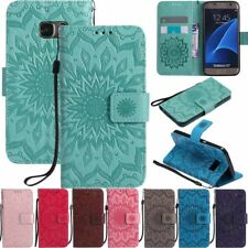 For Samsung Galaxy S20 S10 S9 S8 S7 Flip Leather Wallet Card Holder Case Cover