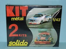 SOLIDO 1/43 BMW 3.0 CSL. 2 Kits. FACTORY MINT BOXED