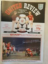 1985 FA CUP - MANCHESTER UNITED v WEST HAM UNITED -6th Round 9th March