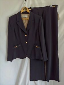 Tahari Navy Pants Suit NWT Size 16
