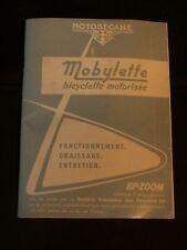 """Manuel notice mode d'emploi cyclomoteur Mobylette Motobécane 1968 """" BLEUE"""" TTBE"""