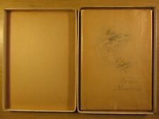 C D GIBSON BRIDAL MEMORIES  BOOK 1919 ONE PAGE USED 1928 IN ORIG. BOX W GLASSINE