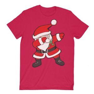 Dancing Dab Dabbing Santa Funny Father Christmas T-Shirt Tee Adult Kids