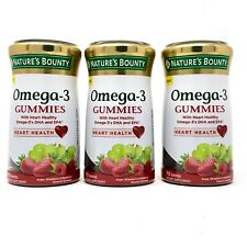 Nature's Bounty Omega-3 Fish Oil Heart Health Gummies 3 PACK NEW SEALED Exp 9/20