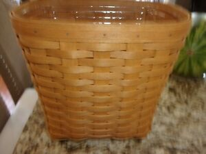 LONGABERGER SMALL OVAL WASTE BASKET WITH PROTECTOR
