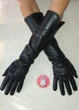 Damen Schwarz- Leder Handschuhe, beste Qualität, aus weichem Lammleder
