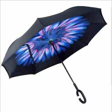 Inverted Umbrella Windproof Reverse Double Layer with C-shaped Hands~USA Seller