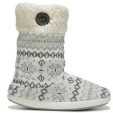 """NEW Women's Dearfoams """"Tall Boot"""" -WAS $43!- sz LG (9&10) white slipper bootie"""