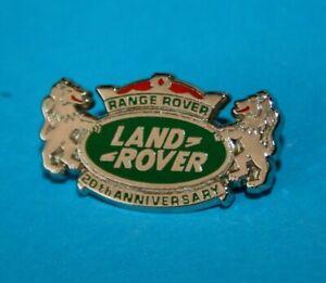 Pin's Lapel pin's pin LOGO LAND ROVER RANGE 20TH ANNIVERSARY ZAMAC Signé