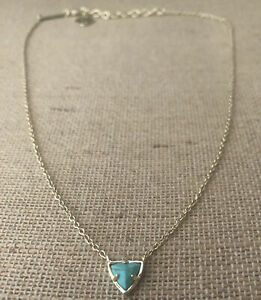Kendra Scott Perry Triangle Gold Pendant Necklace with Turquoise Howlite