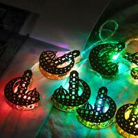 Islam Eid Ramadan Lights Decoration Mubarak LED Light Multicolor String Muslim