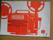 Instructions cine projector EUMIG MARK S 709 701 super single & standard 8 CD/em