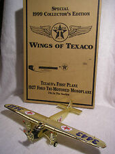 Vintage Rare Wings of Texaco's 1927 Ford Tri-Motored Monoplane Coin Bank - Gold