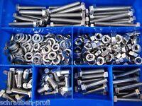 360 Teile Edelstahl Schrauben DIN 933 Muttern Box M4 Sortiment SET  ISO 4017