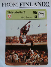 BOB BEAMON 1977 FINNISH Sportscaster card Track and Field - From Finland